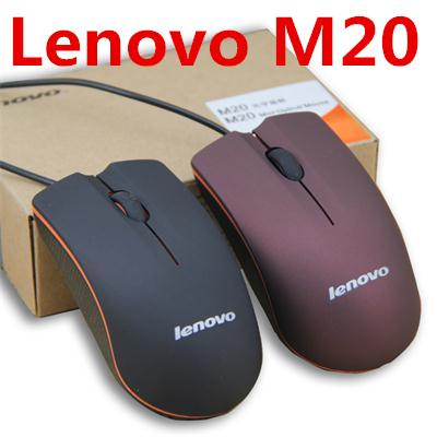 top popular Lenovo M20 USB Optical Mouse Mini 3D Wired Gaming Manufacturer Mice With Retail Box For Computer Laptop Notebook 2019