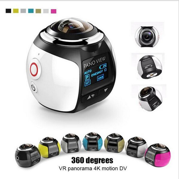 V1 4K 360 Degree Action Camera Wifi Mini 16MP Ultra HD Panorama Camera 3D Waterproof outdoor action video cameras