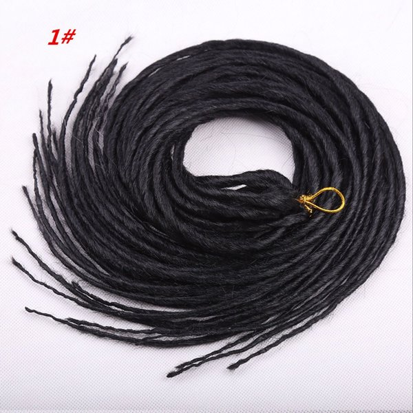 top popular Fashion best selling Dreadlocks Crochet hair Afro Hot Synthetic Twist Braiding Hair Extensions Jerry Curly Faux for black womean 2020