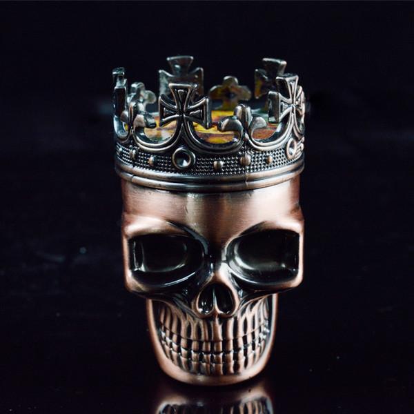 3 piezas de cráneo amoladoras de metal para tabacco molinillo de hierba seca 75 mm amoladora de cigarro reciclan amoladora de mano accesorios para fumar mentales en venta