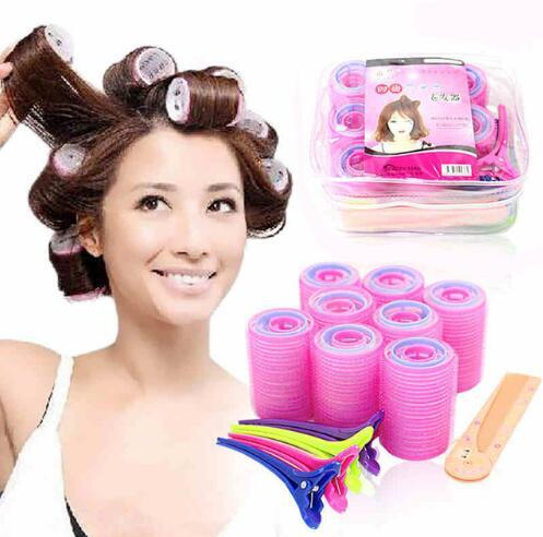 best selling Free Shipping 29pcs  Set New Standard Beauty Rollers Hair Curlers Soft Magic Plastic Hair Curl Tool Set