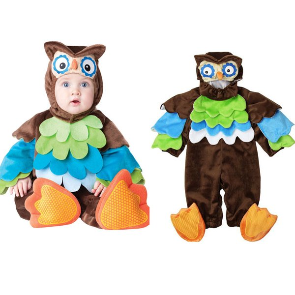 Lovely Animal Halloween Outfit for Baby grow Infant Boys Girls Baby Fancy Dress Cosplay Costume Toddler Penguin/Lion/Floral fairy/Owl
