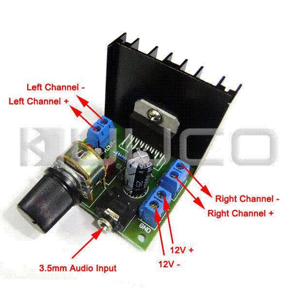5 ADET / GRUP DC / AC12V Dijital Amplifikatör TDA7297F 15 W + 15 W Çift Kanallı Amplifikatör Araba Amplifikatör Ses Kontrol Modülü dc güç kaynağı dijital