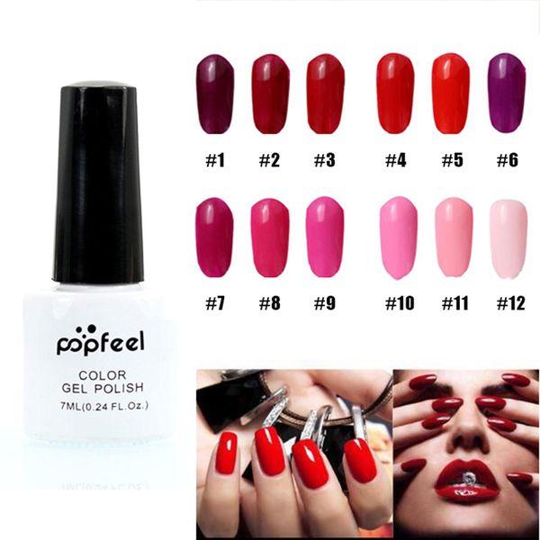 Wholesale Stylish Red Color Nail Art Polish Gel Lacquer Enamel Gel ...