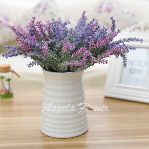 Wholesale real look artificial silk lavender 3 colors mix better decorative flower romantic 5 heads for wedding party hotel home decoration