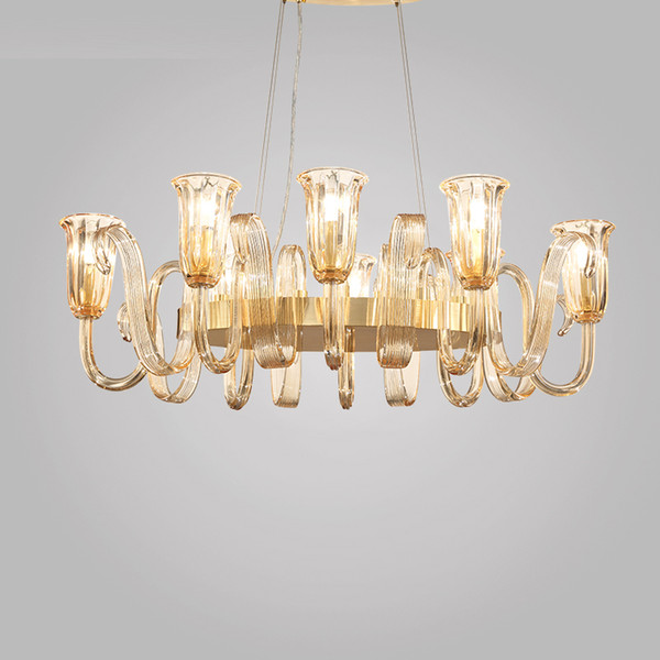 Luz creativa post-moderna de lujo simple sala de estar lámpara de estilo nórdico ambiente dormitorio personalidad restaurante lámparas de cristal