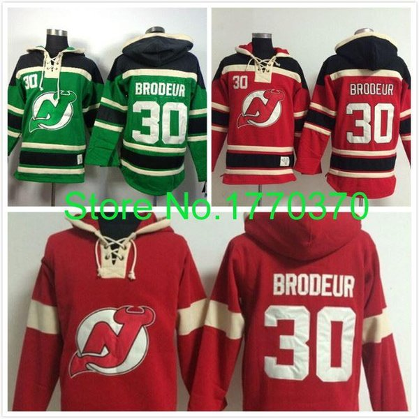 save off 7fa48 82794 2019 Factory Outlet, #30 Martin Brodeur Jersey Red Green Stitched Hockey  Hoodie NJ Devils Ice Hockey Hoodies Sweatshirt From Espn_sport, $29.09 | ...