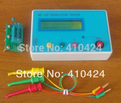 MK-168 Transistor Tester Diode Triode Capacitance RLC/ ESR Meter MOS PNP NPN order<$18no track
