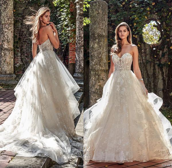 romantic princess sweetheart wedding dresses 2018 eve of milady ...