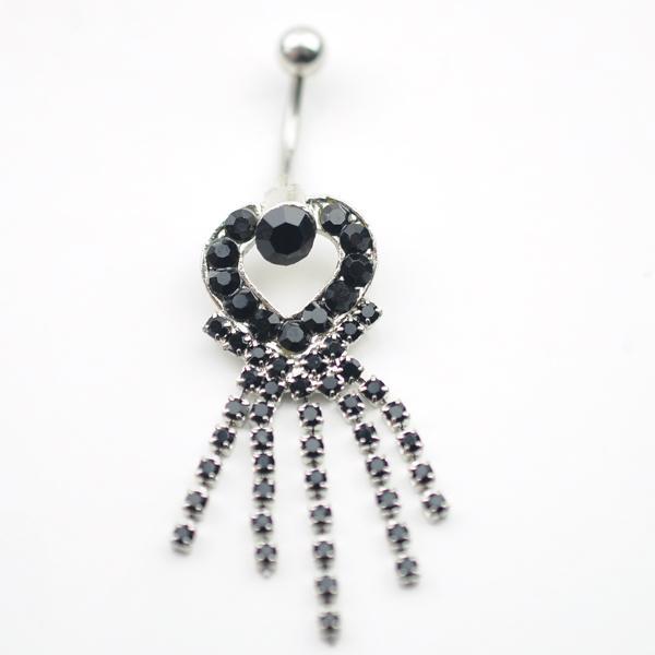 D0107 (3 couleurs) Belly Button Nombril Anneaux Body Piercing Bijoux Dangle Accessoires Mode Charme Griffe Chaîne 10 Pcs / Lot