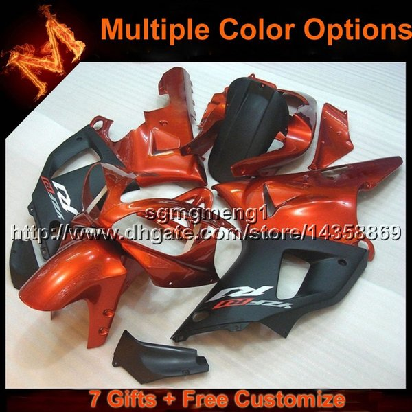 23colors+8Gifts ORANGE motorcycle cowl for Yamaha YZFR1 2000-2001 00 01 YZF R1 2000 2001 00-01 ABS Plastic Fairing