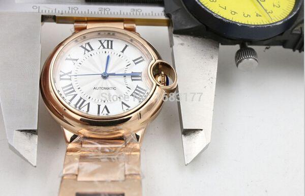 Роскошь все платье из нержавеющей стали высокое качество автоматический механизм механические часы унисекс 3001 445968px мужчины ограниченный наручные часы + подарочная коробка