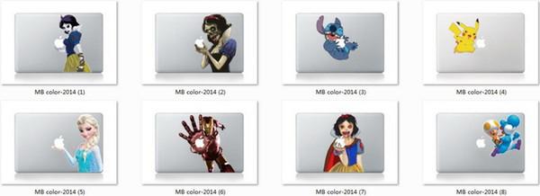 Großhandel Cartoon Prinzessin Schneewittchen Spiderman Aufkleber Haut Schutz Für Apple Macbook Air 11 Air Pro Mac 13 15 17 Retina 13 Zoll Von Lady