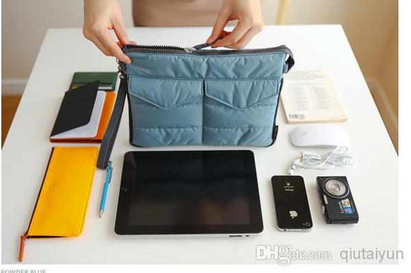 2014 IPad Saco no Organizador do Saco Sacos Internos Binder Organizer Insert Viagem bolsa de tablet Multifuncional Bolsa Gadget de Bolso 100 pcs WY345