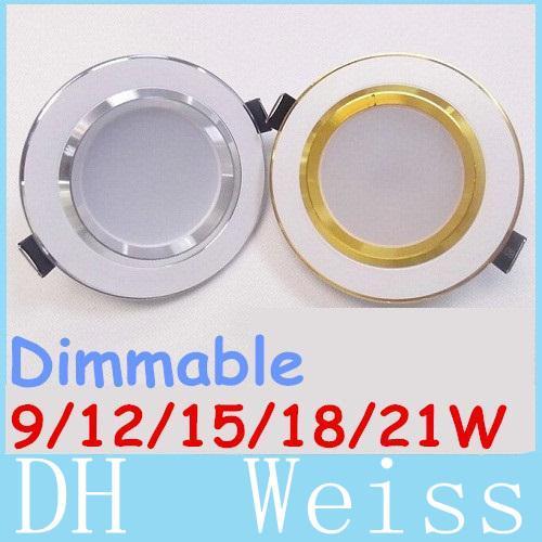 CREE Inch Led Встраиваемый светильник Downlight 160 Угол 21W 18W 15W 12W 9W Потолочный светильник AC 110-240V Затемнения Теплый / Холодный Белый