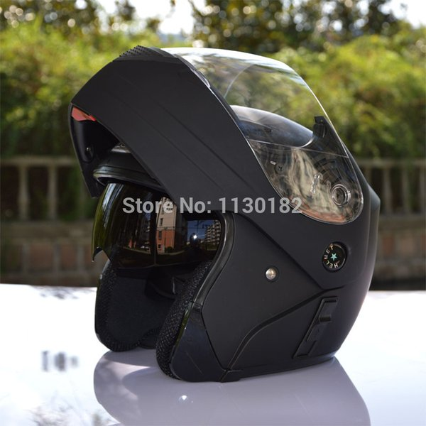 Atacado-motocicleta capacete flip up cascos motociclismo capacete modular casco moto modulares cascos modulares viseira dupla TKD-111