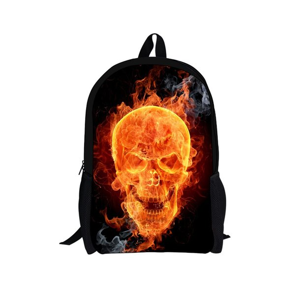 2015 Hot Movie Ghost Rider Backpack Children Boys Backpacks Skull School Bags for Teenagers Girls Bagpack Outdoor Sport Mochila