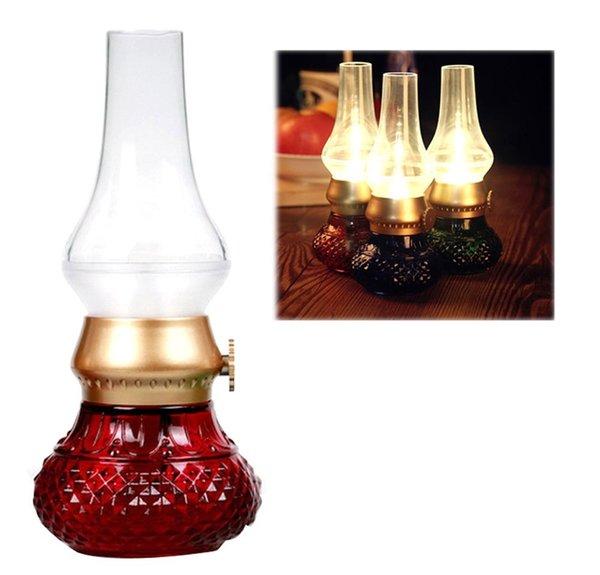 Lámpara de queroseno controlada con soplado retro USB recargable Luz de noche LED Retro Blow LED Lámparas de noche Lámpara táctil Lámpara de mesa Led creativa