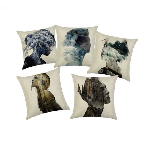 Awe Inspiring Unique Scenery Model Cushion Cover Plaid Linen Cushion Cover Handmade Portrait Decorative Cushion Cover For Sofa Seat Outdoor Spotlight Outdoor Pdpeps Interior Chair Design Pdpepsorg