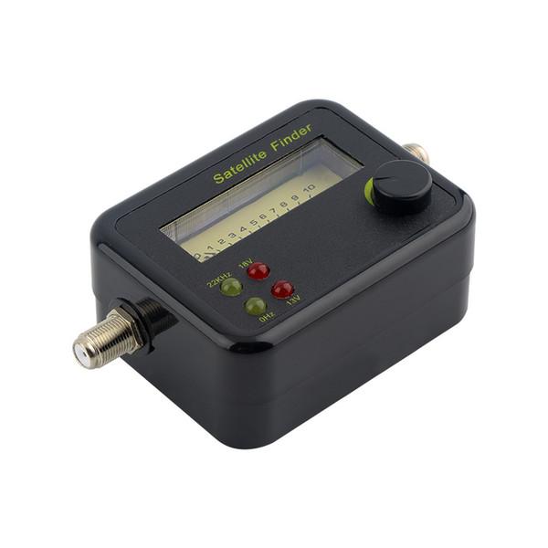 Mini appareil de contrôle de mètre de trouveur de signal satellite d'affichage numérique d'affichage à cristaux liquides en plastique noir avec l'excellente sensibilité