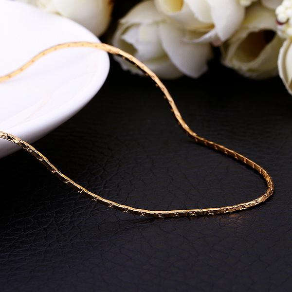 High quality 18K gold chain necklace 1.5MM & 0.5MMX18inches fashion jewelry wedding gift free shipping