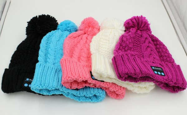 New Arrival Bluetooth Beanie Music Hat Cap Knitted Winter Magic Hands-free MP3 Hat for Woman Men Smartphones 20pcs Free Shipping