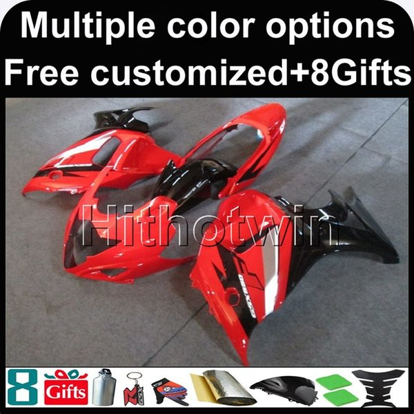 23colors+8Gifts RED WHITE motorcycle cover for Suzuki GSX650F 2008-2010 08 09 10 GSX650F 2008 2009 2010 ABS Plastic Fairing