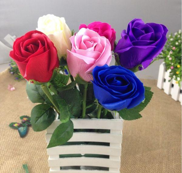 2018 decor rose artificial flowers silk flowers floral latex real decor rose artificial flowers silk flowers floral latex real touch rose wedding bouquet home party design mightylinksfo