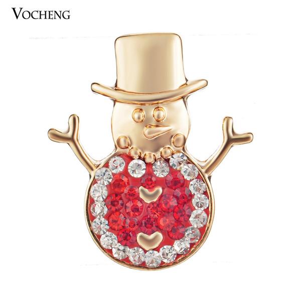 Hot Femme Cristal Bijoux Collier Pendentif fit 18 mm Noosa Snap Bouton bonhomme de neige 1