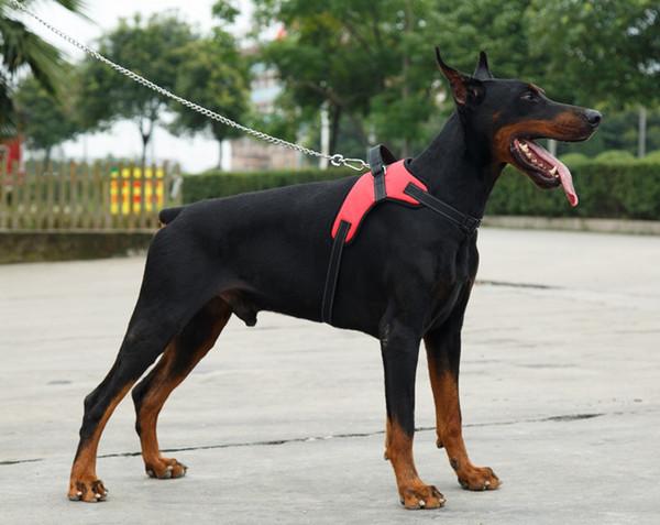 2017 Naylon Ağır Köpek Pet Harness Yaka K9 Yastıklı Ekstra Büyük Büyük Orta Küçük Köpek Tasması yelek Husky Köpekler Malzemeleri