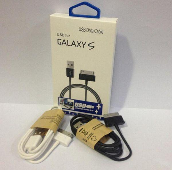 2015 hot linha de dados usb sync charger cabo adaptador de cabos com pacote de varejo para samsung galaxy tab p1000 p7500 p6800 p6200 e066 n8000 dhl
