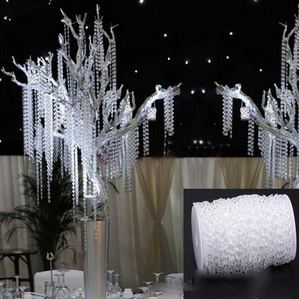 10mm Crystal Garlands Acrylic crystal curtain string Gems Bead Strands Wedding Decoration Manzanita Tree Hung Strands + DHL Free Shipping