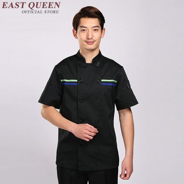 2019 Restaurant Uniform Shirt Hotel Kitchen Uniforms Men Chef Shirt Clothing Hotel Male Cooks Clothing Chef Clothes Jacket Aa737 From Eastqueen
