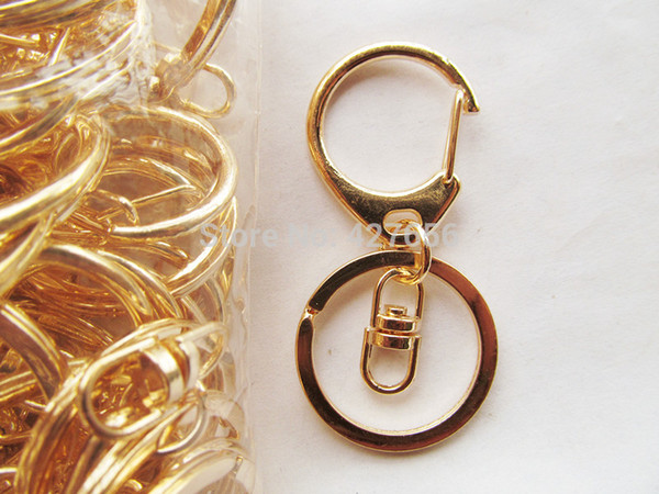 500pcs 30pcs Silver tone/Golden Heavy Strong D Clasp Circle Clasp Key Chain Ring Connector Pendant Charm/Finding