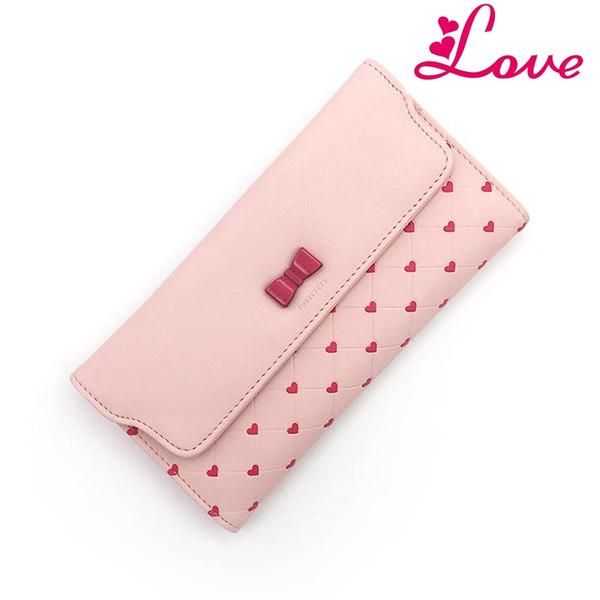 BIG Hot Fashion Women Clutch Girls Purse Wallet Long PU Leather Bowknot Cute ID Card Holders Handbag Wallets N534