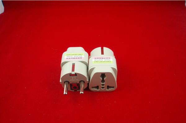 best selling 500 Pcs lot Universal AC Power Plug Converter Adapter UK US AU To EU Plug Adapter Travel Charger Adapter Electrical Plug Socket