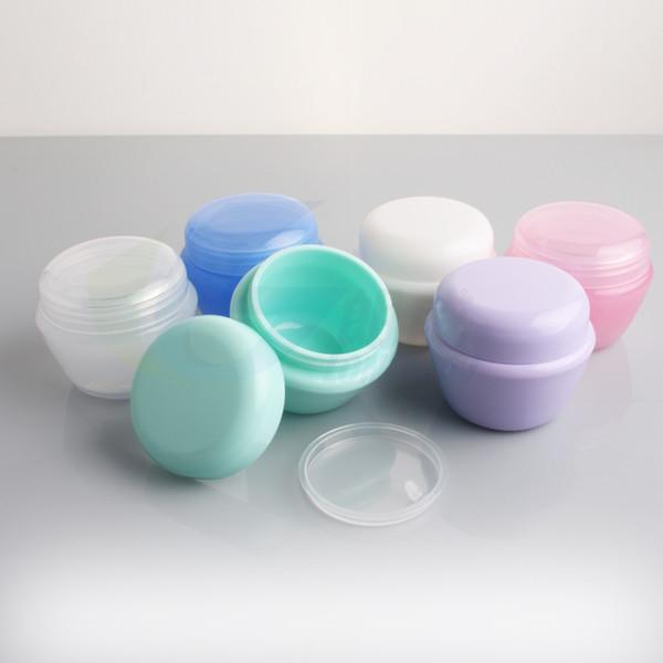 10g Kozmetik Boş Kavanoz Pot Göz Farı Makyaj Yüz Kremi Dudak Balsamı Konteyner Şişe kozmetik şişe ambalaj