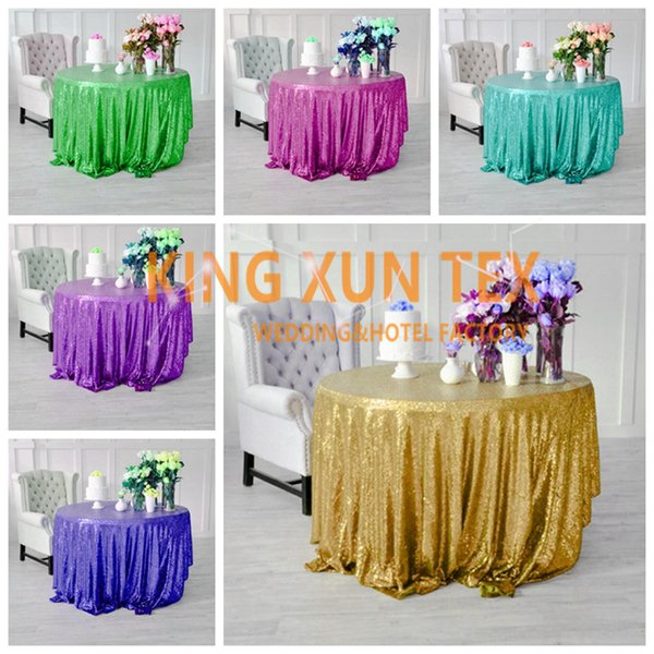 Wholesale Price Sequin Table Cloth For Party And Event Decoration \ Cheap Wedding Tablecloth Door to Door Shipping