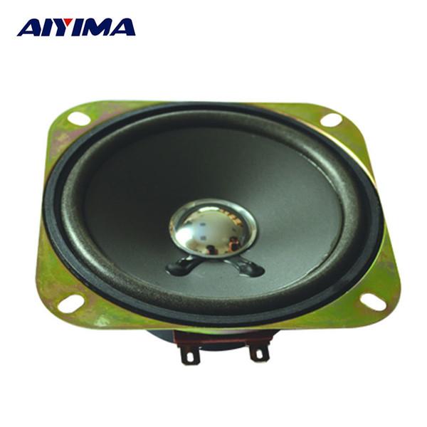 Al por mayor-AIYIMA 2pcs 4 pulgadas 4 ohmios 25 vatios altavoces borde del bulbo del poder del claxon del coche del lavabo de los PP del altavoz