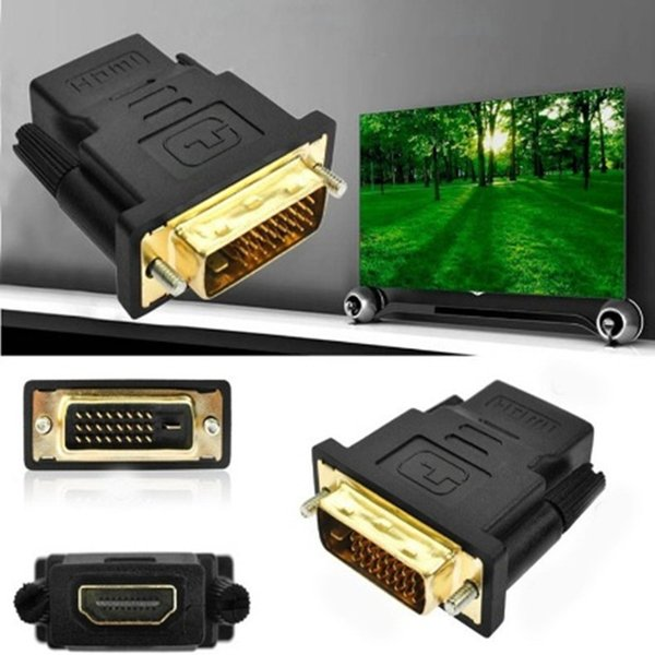 Elettronica di consumo Accessori per computer TV DVI-D Maschio (24 + 1 pin) a HDMI Femmina (19 pin) Adattatore display HD HD Monitor