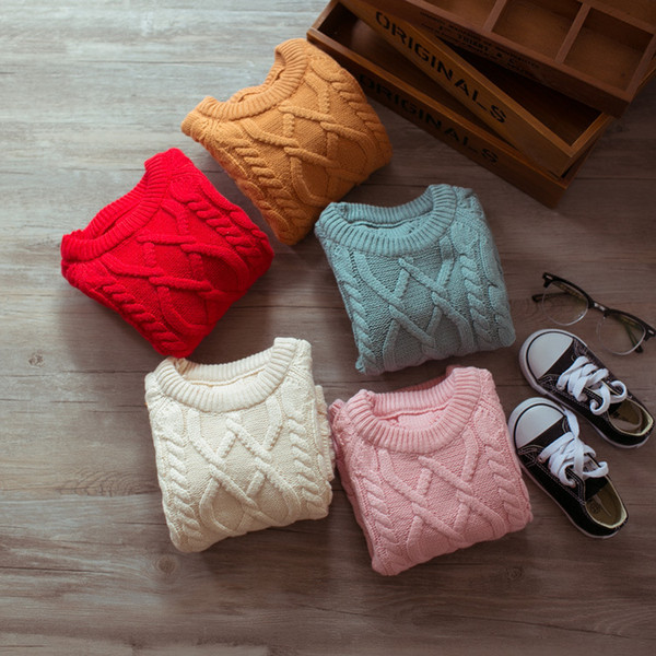 top popular Autumn Spring Baby Girls Boys Clothes Pullover Christmas Knitted Sweater Kids Long Sleeve Casual Warm Sweaters Baby Clothes 1-4T 2021