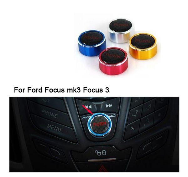 Aluminum alloy audio knob for Ford Focus Focus 3 fiesta Ecosport Kuga auto accessories