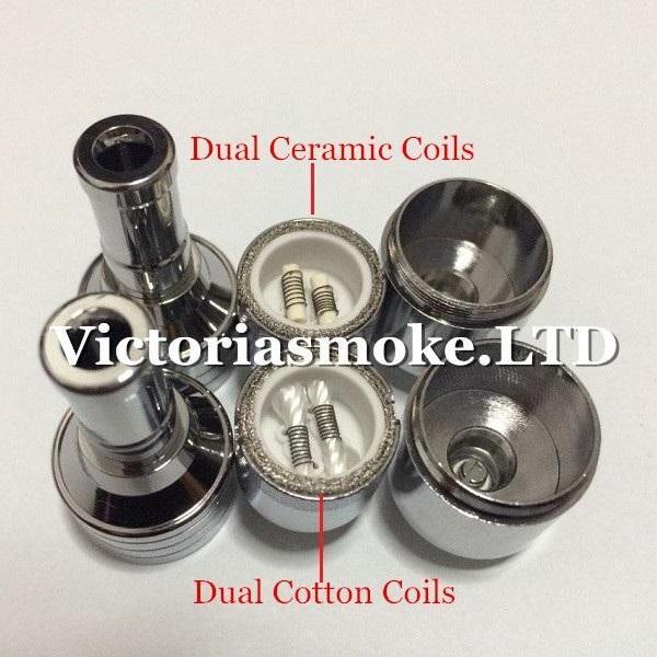 D-CORE double coils wax atomizer Ceramic Cotton rob wax vaporizer dual heating coils wax cartomizer e cigarette ego electronic Cigarette