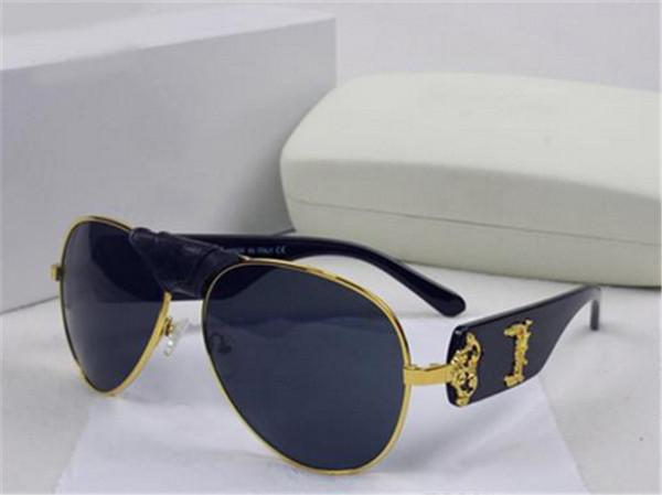 Italie designer hommes femmes marque lunettes de soleil cadre en métal boucle en cuir amovible Medusa lunettes de vue vintage revêtement lentille lunettes lunette