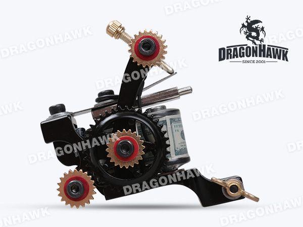 Tattoo Machine Gun Plata Shader 10 Wraps Steel Frame Copper Coils Beginner Tattoo gun WQ4128