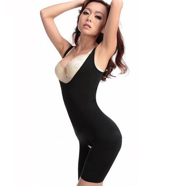 Tamaño ajustado M L 2015 Nuevas Mujeres Postnatal Body Slimming Shaper Underbust Bra Up Bodysuit Highwaist Bambú Carbón Shaping Wear FG1511