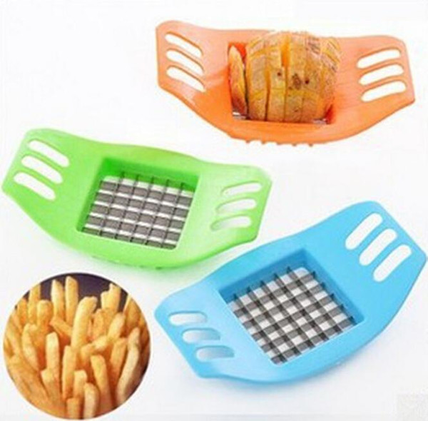 ABS+Stainless Steel Potato Cutter Vegetable Slicer Chopper Chips Device Fries Kitchen Cooking Tools Potato Vegetable Slicer new