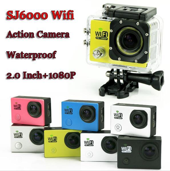 "New SJ6000 WIFI Action Camera 2.0""LCD Full HD 1080P Camcorder 12MP CMOS Diving 30M Waterproof Sport DV Video Cam Car Dvr"