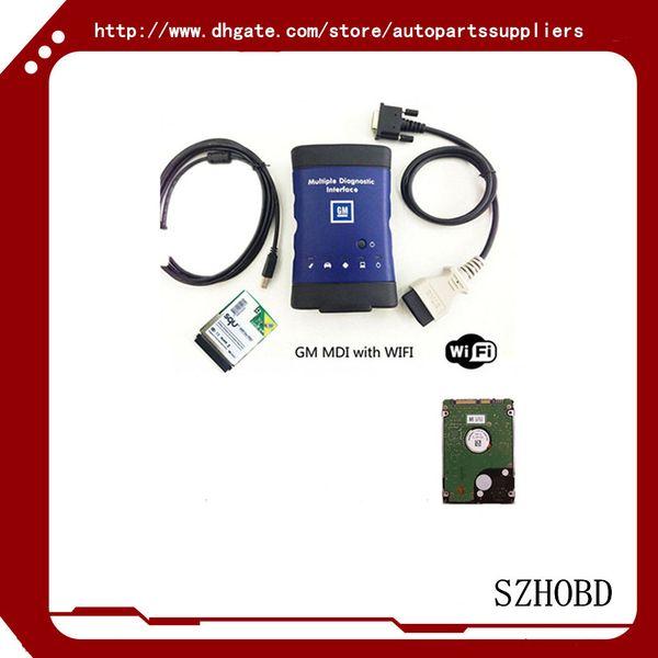 NEUES GM MDI (ARBEITEN Sie% 100) Opel MDI (Technologie 3) Soem-Niveau Diagnose GM MDI (TECH-3) + wifi Karte + 2017.7 Version HDD