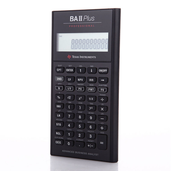 Examens financiers de haute qualité recommandés TI BA II Plus professionnel CFA Professional Edition BAII Calculatrice financière